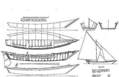 Sailboat Vagrant Cutter 1884 ship model plans