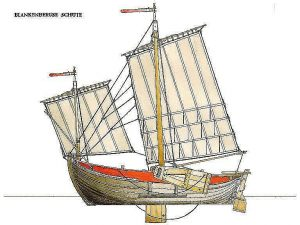Sailboat Venetian Sanpierota ship model plans