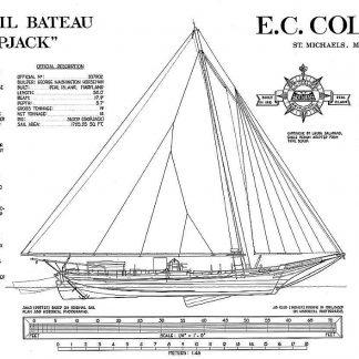Sloop Pauline ship model plans