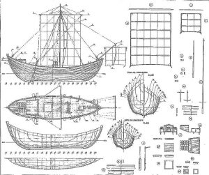 Tradeboat Byzantine ship model plans
