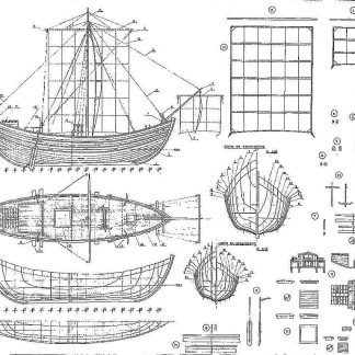 Tradeboat Byzantine ship model plans