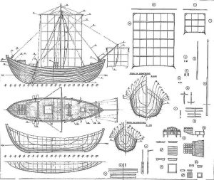 Trading Vessel (Byzantine) VIIc ship model plans