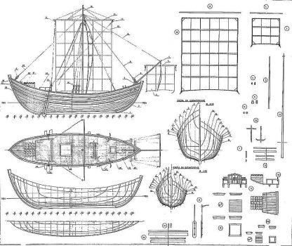 Trading Vessel (Byzantine) VIIc ship model plans