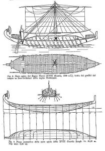Trading Vessel (Egyptian) Bc 1500 ship model plans