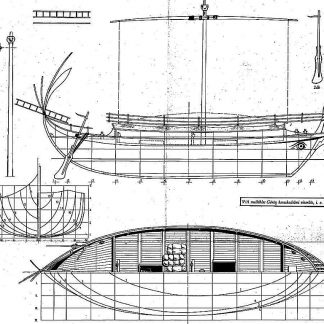 Trading Vessel (Greek) Bc VIc ship model plans