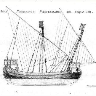 Trading Vessel (Mediterranean) XIIIc ship model plans