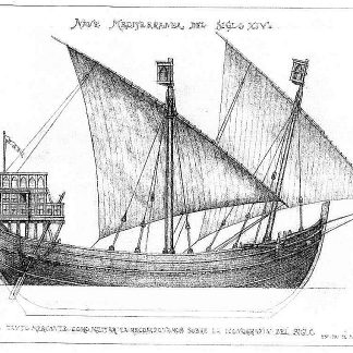 Trading Vessel (Mediterranean) XIVc ship model plans