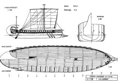 Trading Vessel (Phoenician) Bc VIIIc ship model plans