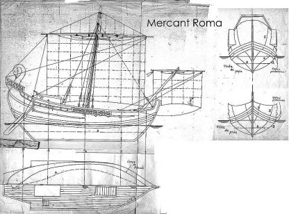Trading Vessel (Roman) Bc IIc ship model plans