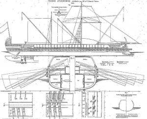 Trireme Greek Athenian ship model plans