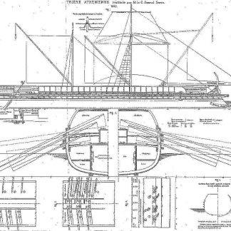 Trireme Greek Athenian ship model plans