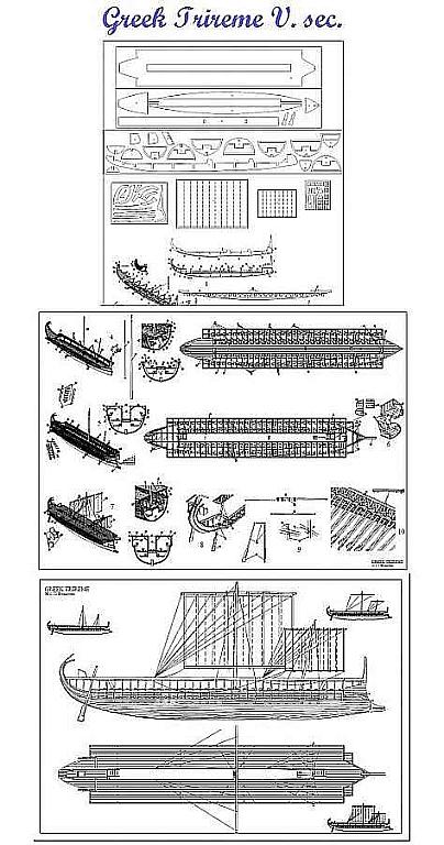 Trireme Greek V Sec 72 ship model plans