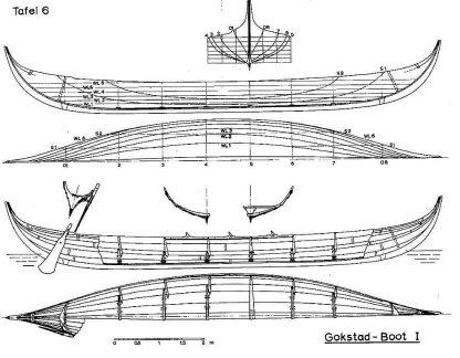 Viking Boat (Gokstad) IXc ship model plans