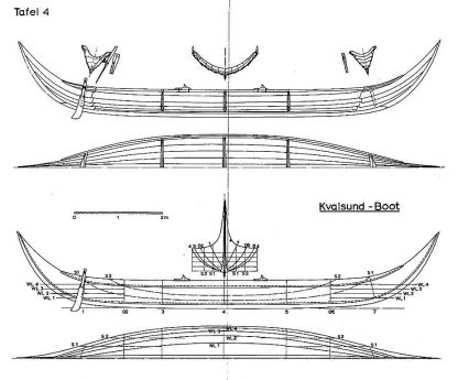 Viking Boat (Kvalsund) VIIIc ship model plans