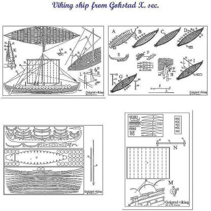 Viking Gokstad Xc ship model plans