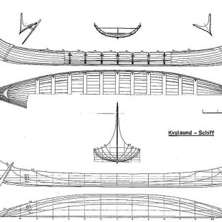 Viking Longship (Kvalsund) VIIIc ship model plans