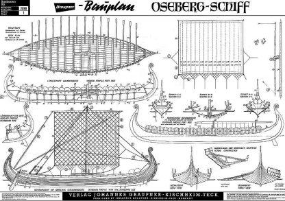 Viking Longship (Oseberg) IXc ship model plans