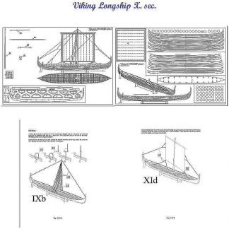Viking Longship Xc ship model plans