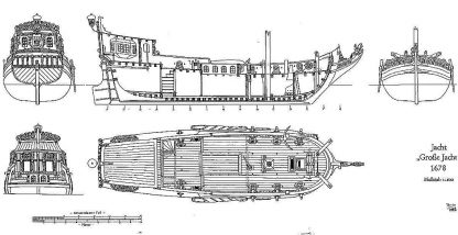 Yacht Armed Great Yacht - Doro 1678 ship model plans