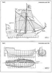 Yacht Churfurstliche 1694 ship model plans
