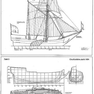 Yacht Churfurstliche 1694 ship model plans