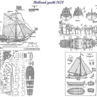Yacht (Dutch) 1670 ship model plans