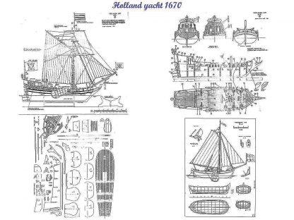 Yacht (Dutch) 1670 ship model plans