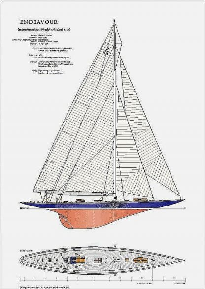 Yacht Endeavour J-Class ship model plans
