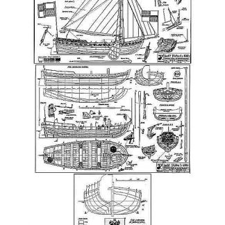 Yacht I Piotra 1688 ship model plans