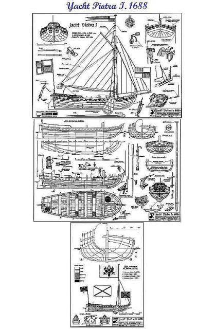 Yacht I Piotra 1688 ship model plans