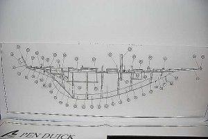Yacht Pen Duick 1960 ship model plans
