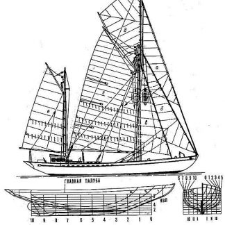 Yacht Rossia 1934 ship model plans