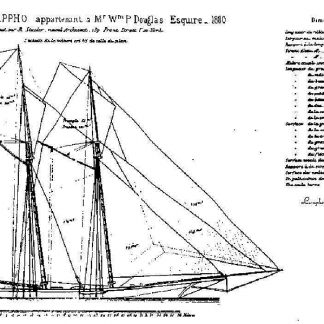 Yacht Sappho 1880 ship model plans