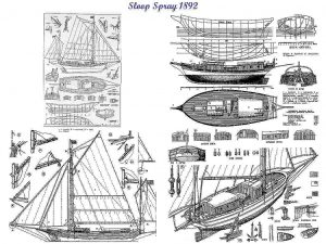 Yacht Spray ship model plans