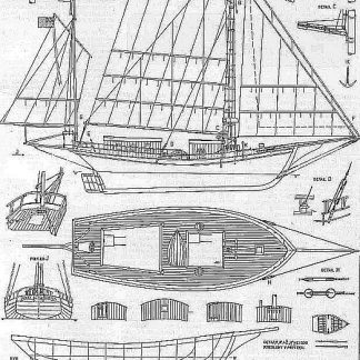 Yacht Spray 1892 ship model plans