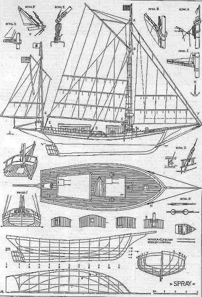 Yacht Spray 1892 ship model plans