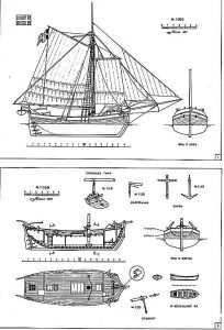 Yacht (Swedish) XIXc ship model plans