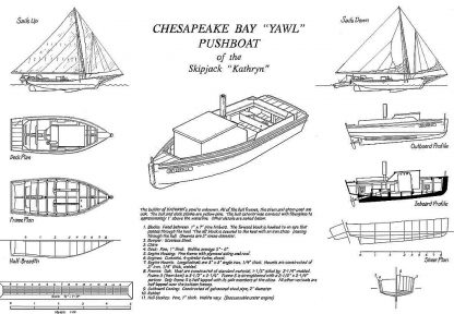 Yawl Cathryn ship model plans