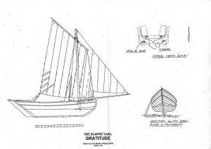 Yawl Scaffie Gratitude ship model plans