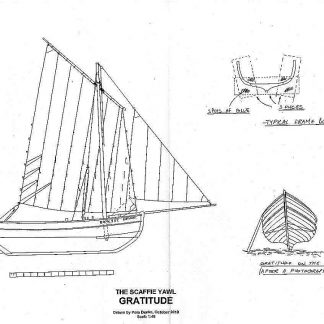 Yawl Scaffie Gratitude ship model plans